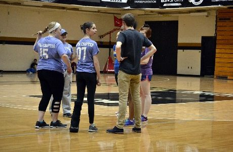 Compete for Charity: Alpha Psi Lambda and Phi Xi Psi face off in volleyball match