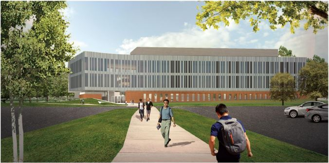 The+above+illustration+shows+the+Bioscience+Innovation+Building%2C+which+will+be+placed+in%0D%0Afront+of+SUL+on+the+Hammond+campus.+