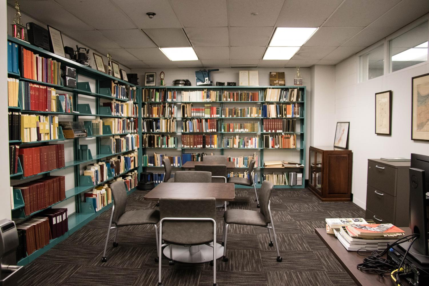 The Research Room on the Hammond campus contains historical documents from the university.
