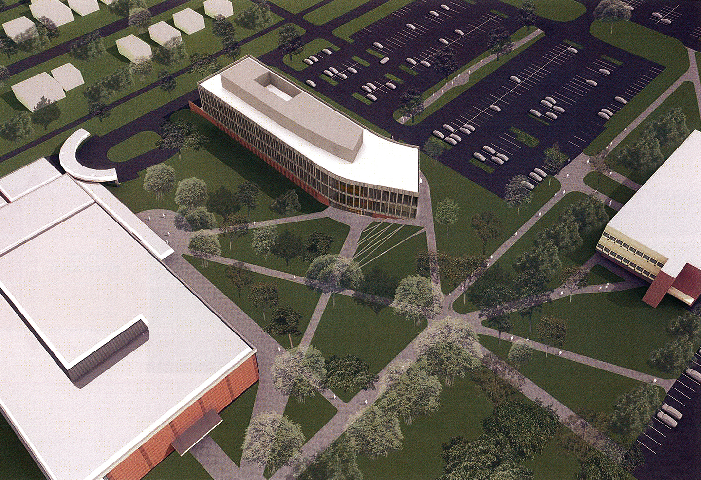 The new Bioscience Innovation Building will be south of SULB and northeast of Lawshe.