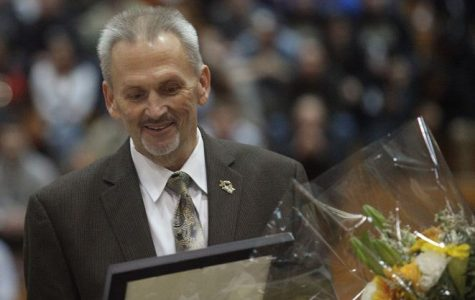 Matt Bush, men's basketball head coach, had a career of 34 years in the field.