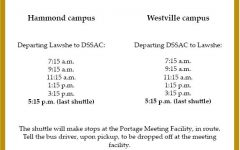 Shuttle service departure times reduced, bus provider changed