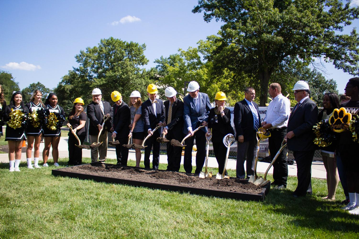 PNW administrators, construction and design firm owners, local government officials and PNW students all broke ground together during the ceremony on Aug. 23. The building will be a two-year project and is expected to be completed in 2020.