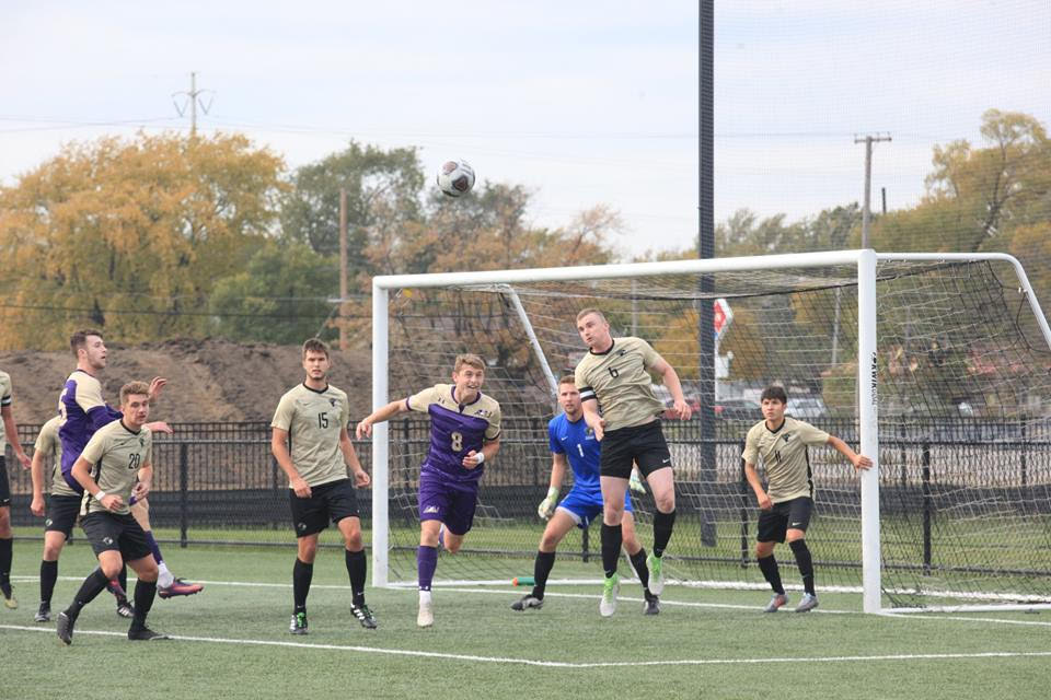 The men's soccer team finished the season with a 9-7-1 overall record.