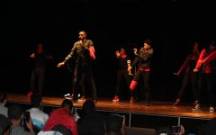 Black Student Union competes in Mock Rock & Spirit Rally on Feb. 13. The organization took first place in the competition