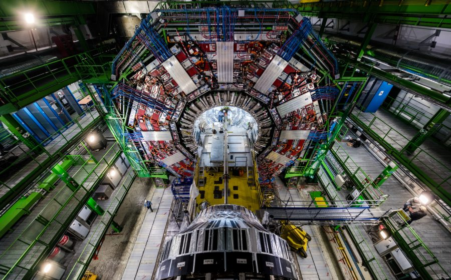 "The ""heart"" of the Compact Muon Solenoid pixel detector is replaced. The pixel detector, a high-speed 3D camera capturing particle collisions, is just one part of the CMS project that select students and staff in the Department of Chemistry and Physics will help CERN upgrade. Source: CERN"